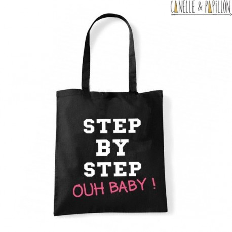 "Tote Bag ""step by step ouh baby"""
