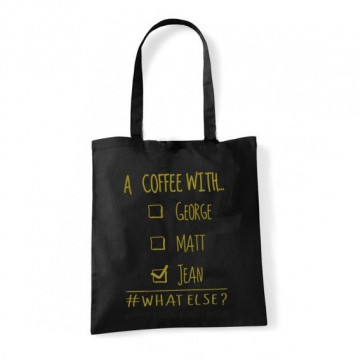 "Tote Bag ""a coffee with jean"""