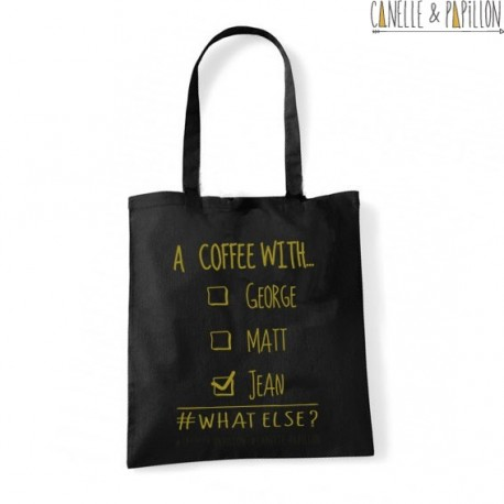 """Tote Bag """"a coffee with jean"""""""