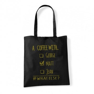 "Tote Bag ""a coffee with Matt"""