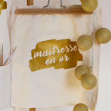 "Tote Bag ""Maïtresse en Or"""