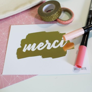 "Carte Postale ""Merci"""