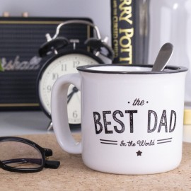 "Mug Vintage ""Best Dad In the World"" personnalisable"