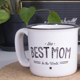 "Mug Vintage ""Best Mom In the World"" personnalisable"