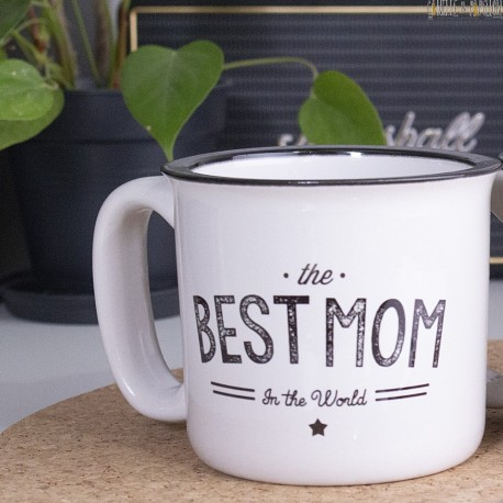 """Mug Vintage """"Best Mom In the World"""" personnalisable"""