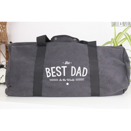 """Sac en toile Vintage Canvas """"The Best Dad in The World"""