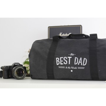 "Sac en toile Vintage Canvas ""The Best Dad in The World"