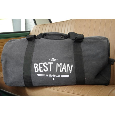 "Sac en toile Vintage Canvas ""The Best Men in The World"""